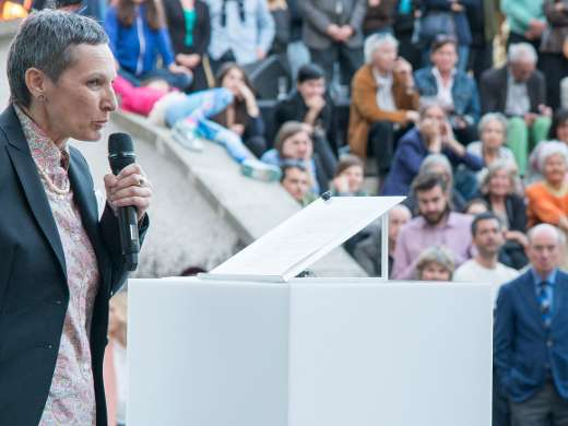 Ansprache Kaba Rössler, Leiterin Stadtmuseum Aarau, Foto: Peter Koehl