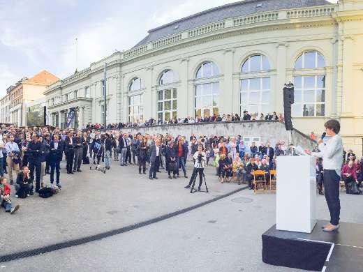 Ansprache Stadtpräsidentin Jolanda Urech, Foto: Peter Koehl