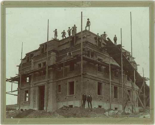 Baustelle Villa Kern, Herzogstrasse, 1892